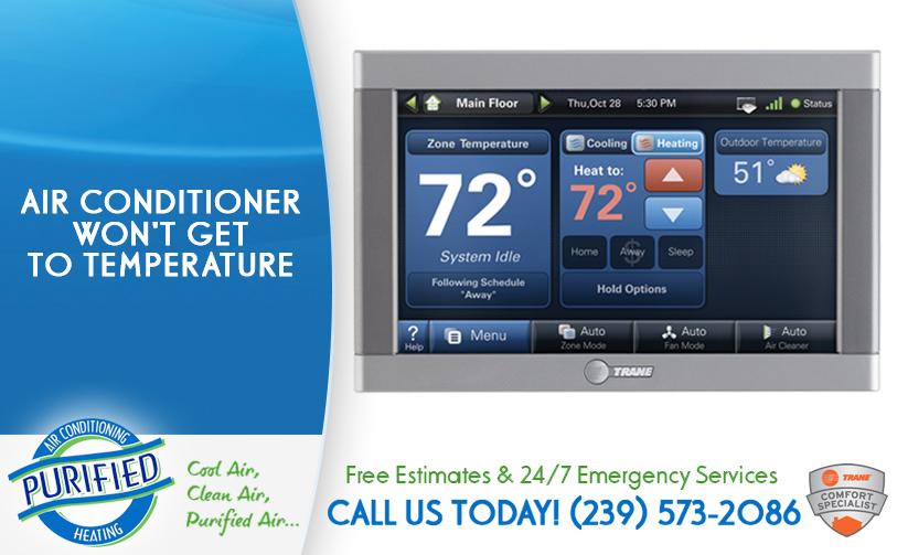 Air Conditioner Won T Get To Temperature In And Near Bonita Springs Florida
