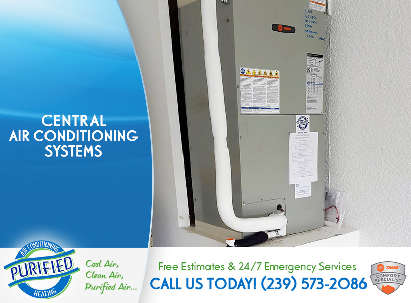Central Air Conditioning Systems in and near Cape Coral Florida