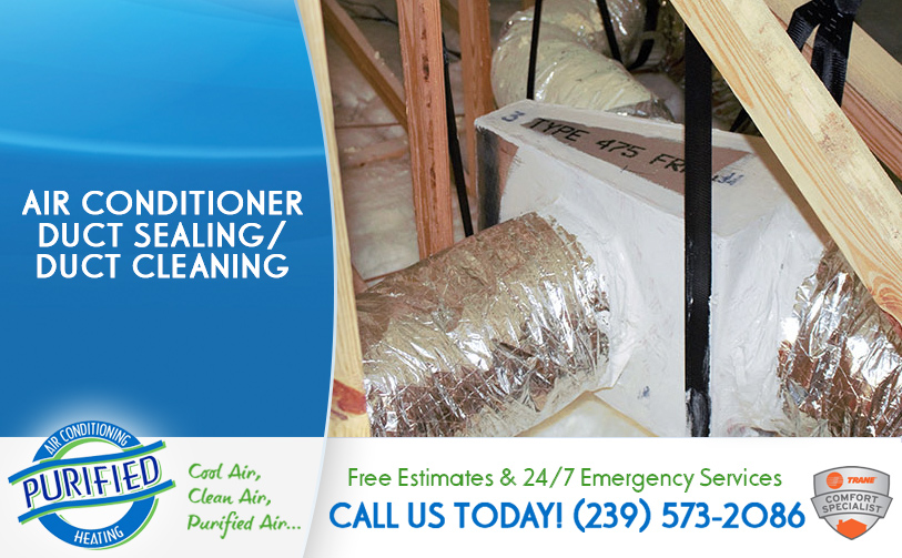 Air Conditioner Duct Sealing / Duct Cleaning in and near North Fort Myers Florida